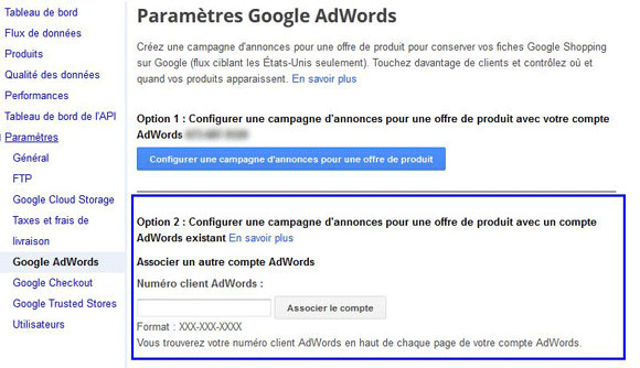 google shopping et google adwords