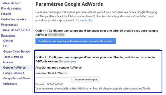 google shopping et google adwords