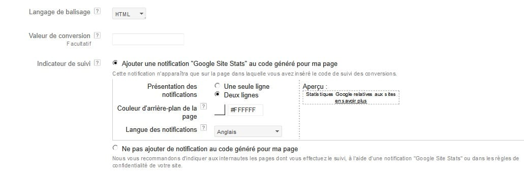 conversion google shopping3