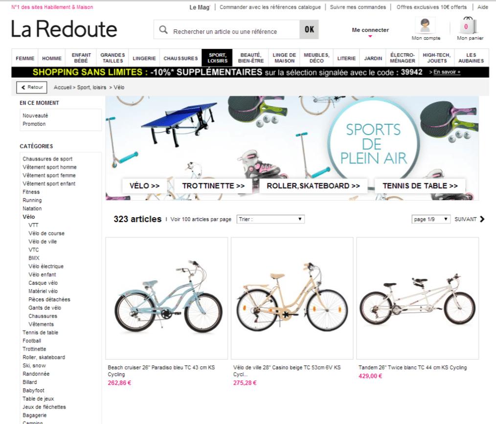 categorie marketplace la redoute le blog iziflux solution d 39 export catalogues produits. Black Bedroom Furniture Sets. Home Design Ideas