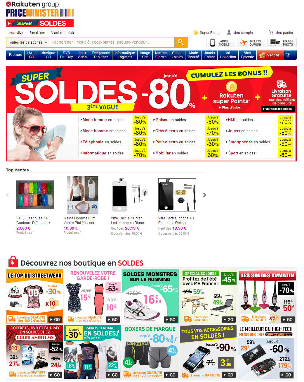 PriceMinister Achat et vente neuf ou d occasion