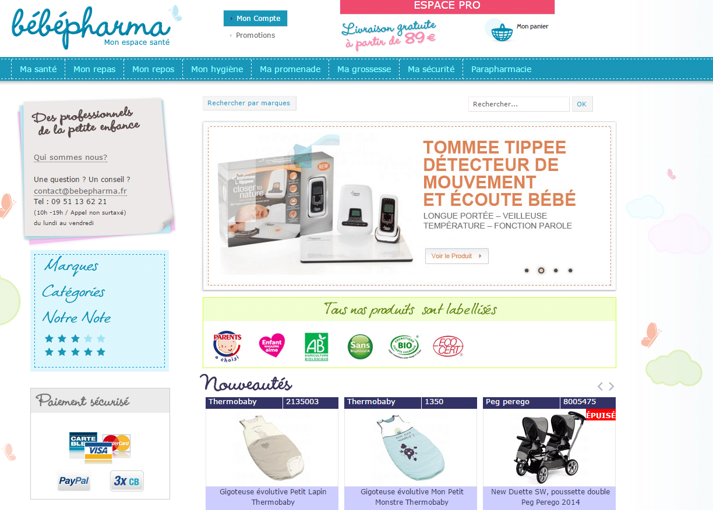 bebepharma site ecommerce