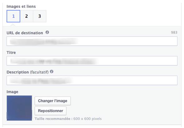 facebook multi produits